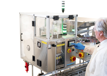 Desiccant Inserter Features Full Safety Enclosure to Protect Strip from Contamination